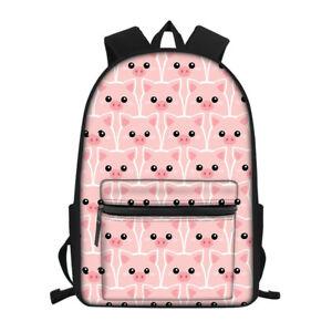 Wolf Sloth Dog School Bags Girls Backpack Boys Women Laptop Travel Rucksack Gift