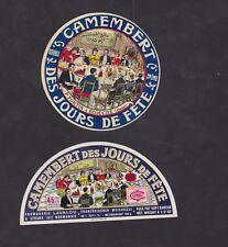 Ancienne étiquette Fromage France  BN33803 Camembert Jours de fête Normandie