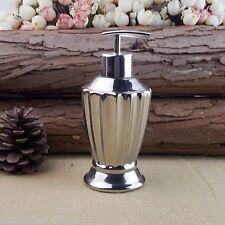 European Silver Imperial Design Ceramic Liquid Soap Dispenser Pump Lotion Bottle