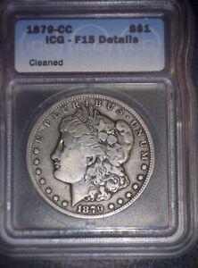 1879-CC Morgan Silver Dollar, ICG  F15, Tough Date, Scarce