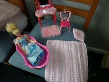 Barbie sized furniture Disney/Simba,  table chair ,rug, bedding,bath cinderella