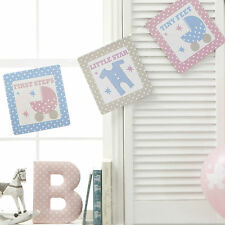 BUNTING FLAGS 3.5m TINY FEET Baby Shower Christening First Birthday Party Unisex