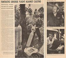 1960 vintage photo article Private Grudge Air Strike at Castro's Cuba 041015