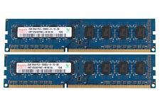 4GB Hynix 2X 2GB 2Rx8 DDR3 1333MHZ PC3-10600U 240Pin DIMM para Computadora de Escritorio Memoria Ram CL9