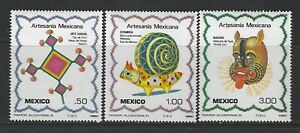 MEXICO - #1267-#1269 - MEXICAN CRAFTS MINT SET (1982) MNH