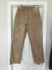 Vintage Distressed Carhartt Pants Size 32/32 Sand Stone Wash Paint Splatter