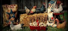 buff orpington farmhouse hen chicken rooster primitive basket cupboard tuck doll
