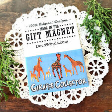 DecoWords Gift Magnet * Giraffe Collector * New in Package Made in USA