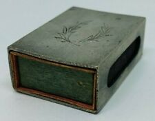 Antique Pewter Svenskt Tenn Match Box With Matches - Great Condition