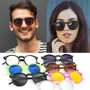 Retro Vintage Runde Sonnenbrille Brillen Shades Herren Frauen UV400 Klassische