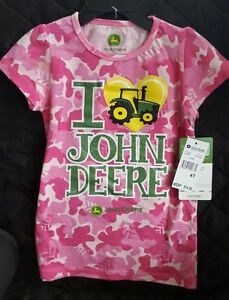 John Deere Floral Sunflower Zip Front Hooded Jacket Choice 4T 12 Month NWT