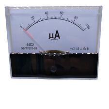 Us Stock Dc 0100ua Class 15 Accuracy Analog Amperemeter Panel Meter Gauge 44c2