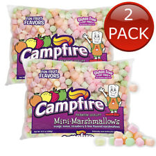 2 x CAMPFIRE MINI MARSHMALLOWS FUN FRUIT FLAVOURS 297G MALLOWS TOPPINGS SNACK