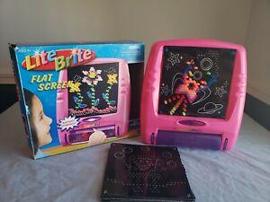 Lite Brite Flat Screen Hasbro Vintage 2006 Pink Battery Powered PLUS SPONGEBOB