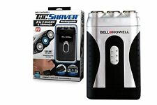 Tacshaver by Bell+Howell Moustache and Beard Rotary Shaver with Pop-up Trimmer f
