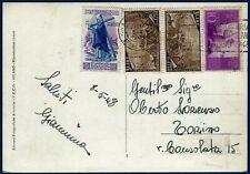 1948 - Cartolina da Milano - Affrancatura multipla con commemorativi