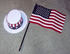 "NWOT 4Th Of July Accessories Hat Flag For American Girl Battat My Life 18"" Dolls"