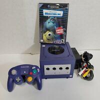 Nintendo GameCube Game Cube Indigo Purple with AC AV Control + Game Tested Works