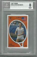 1987 Panini #195 John McEnroe (#56 Claudio Sclosa) Card - Graded Beckett 8 NM-MT