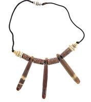 Venetian Milifiori African Trade Beads Wht Heishi Shell Anemone Necklace Choker