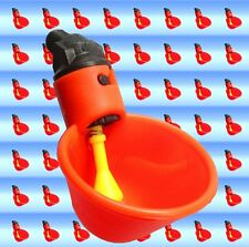 10 Chicken Drinker Cups plastic automatic Poultry Drink Water Backyard 8010 New