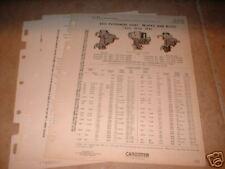 REO original Carter carb service sheets (3 )