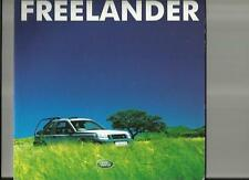 LAND ROVER FREELANDER COMMERCIAL, S, GS, ES SALES BROCHURE + SPECIFICATIONS 2001