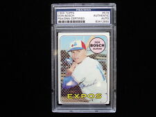 1969 Topps #578 Don Bosch Montreal Expos Autographed Baseball Card - PSA/DNA