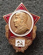 Rusa soviético CCCP Stalin INSIGNIA PIN Grande Pesado RARO