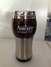 ARICEPT donepezil HCL Metal Travel Mug Cup Alzheimer's Dementia