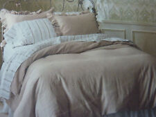 2 pc Simply Shabby Chic Twin Taupe Duvet Cover and Sham Set NIP