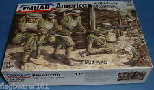 """Emhar 3509 Americanos Ww1 Infantería """"Doughboys"""" 12 X 1:35 Escala Figuras De Plástico."""