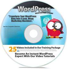 WordPress esercitazione corso | 25 WP come video su 1 Disc Plus Bonus VIDEO