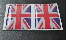 2 X Union Jack Flag Resin 3d Domed Angleterre Autocollant Label 5 cm x 3 cm Self Adhesive