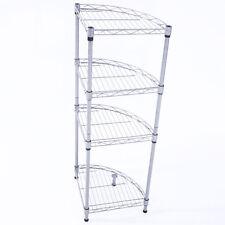 Corner 4 Tier Bath Rack Shelving Shelf Storage Kitchen Bathroom Organizer