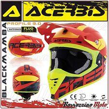 ACERBIS CASCO PROFILE 3.0 BLACKMAMBA MX MOTOCROSS OFFROAD ROSSO/GIALLO TAGLIA S