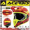ACERBIS CASQUE PROFILE 3.0 BLACKMAMBA MX MOTOCROSS OFFROAD ROUGE/JAUNE TAILLE XL