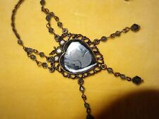 Accessorize Vintage style glass heart cameo pendant necklace - new
