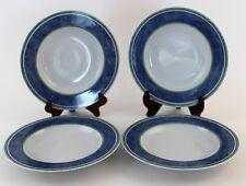 4 Pc Vintage Villeroy & Boch Switch 3 Porcelain Rim Soup Bowl Set *