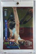 Michael Jordan 1995 Collector's Choice Players Club Platinum Fun Facts #169 SP