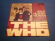 THE WHO BALD HEADED WOMAN Unique Italy 1965 Beat Mod 45 Promo Holed UNPLAYED