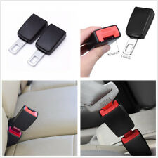 2x Black Car Seat Belt Extender Socket Buckles Clip Safety Seatbelt Metal Tongue