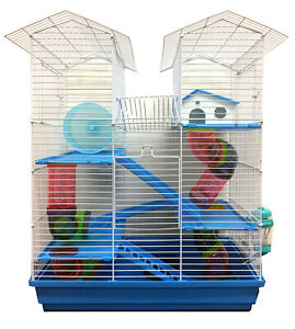 Happy Fun Land For Syrian Dwarf Hamster Habitat Rodent Gerbil Mouse Mice Cage