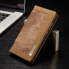 Case Wallet Cover Etui Sleeve Bumper Pouch Back Jeans Leather Synthetic New