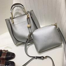 Composite Bag New Women's Shoulder Bag Tassel Handbags Fashion Bucket Bag Silver