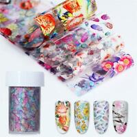 Starry Sky Holographic Decals Nail Foil Nail Art Stickers Manicure Decor