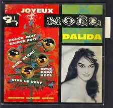 45T NOEL CHRISTMAS DALIDA Joyeux Noël 45T EP BIEM BARCLAY 70.348 Avec Languette
