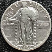 1927 S Standing Liberty Quarter Dollar 25c Rare High Grade VF #13321