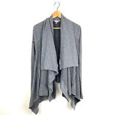 Splendid draped french terry open cardigan sweater S