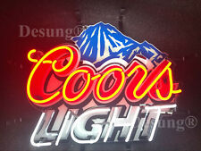 """New Coors Light Mountain Beer Bar Lamp Neon Sign 24"""" With Hd Vivid Printing"""